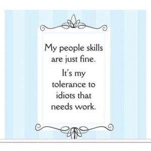 Funny people skills facebook status quote