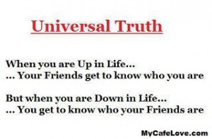 Universal truth of life.