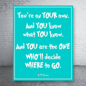 Dr. Seuss Quote Poster Print P3 Digital File DIY by CustomBazaar, $4 ...