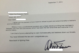 Attorney apologizes for 'harsh' letter on gay rights