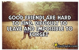 True Friends Are Hard To Find Quotes Good friends are hard to find.