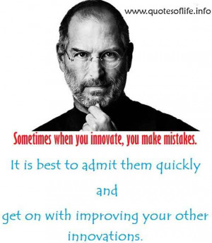... other innovations – Steven Paul 'Steve' Jobs – business quote