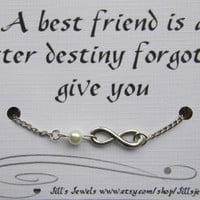 ... Quote Inspirational Card- Bridesmaids Gift - Friendship Anklet - Quote