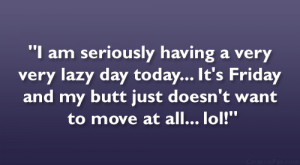 am seriously having a very very lazy day today… It's Friday and ...