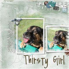 Thirsty Girl digit layout, layout 2012, thirsti girl
