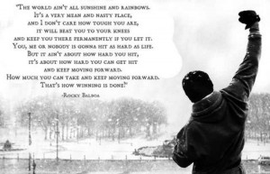 Rocky Balboa, love this quote
