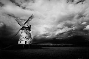 the windmill (dramatic bw) by fRandi-Shooters