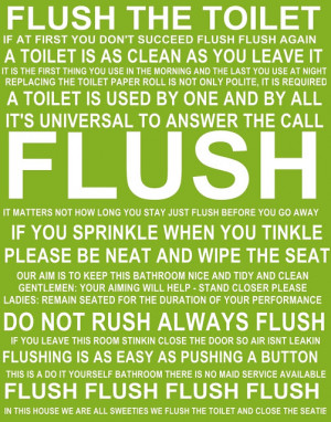 Flush the Toilet quotes and sayings FREE PRINTABLE