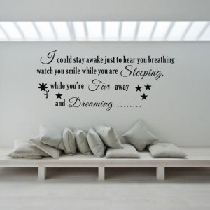 Far-Away-And-Dreaming-Fine-Quality-Vinyl-Black-Wall-Sticker-Love ...