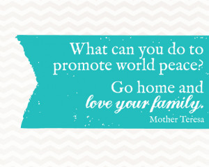 Sunday Encouragement: World Peace {10.26.14}