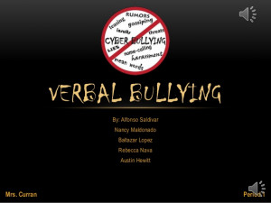Verbal Bullying Pictures...