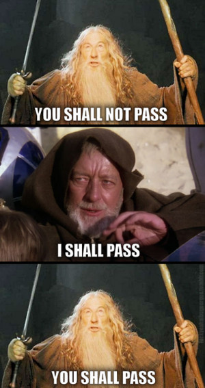 Does this mean that if Gandalf and Obi-Wan Kenobi were in a fight, the ...