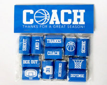 Basketball Coach Gift – Printable Basketball Mini Candy Bar Wrappers ...