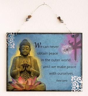 Buddha Wall Hanging Art with Dalai Lama quote via Etsy