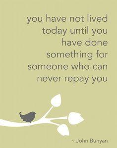 Bunyan quote - generosity / philanthropy... End of year giving ...