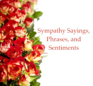 Sympathy sayings with roses in a bunch isolated on a white background