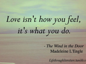 Madeleine L'Engle. Again. Although, I do believe there's room for both ...