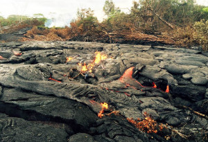 Slow-moving lava sets house ablaze in Hawaii town