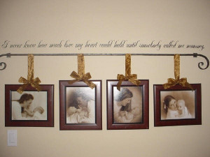 Quote and frame wall decor