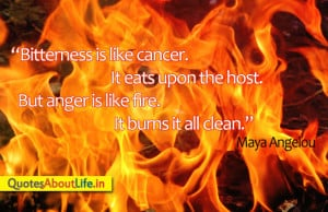 Anger is like Fire ~ Anger Quote
