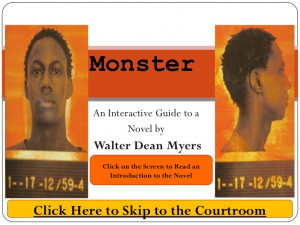 ... walter dean myers monster by walter dean myers monster by walter dean