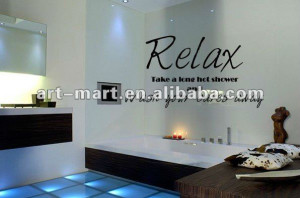 Bathroom Shower - Wall Decal, Vinyl Lettering Wall Saying Quote Decal ...