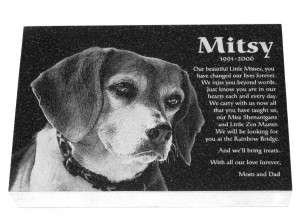 Pet Memorial-Granite Photo Engraved 10