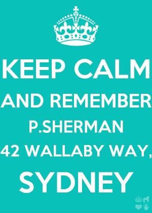 Keep Calm Finding Nemo Dory