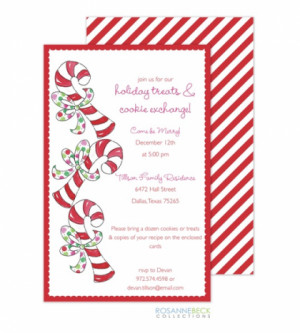 Candy Cane Christmas Invitations Rbc