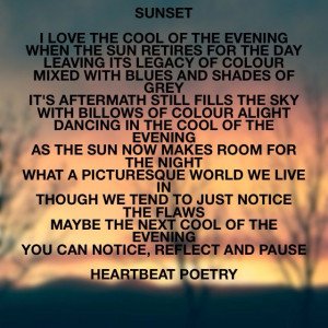 Sunset - poetry