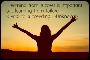 Learning From Success Is Important But Learning From Failure Is Vital ...