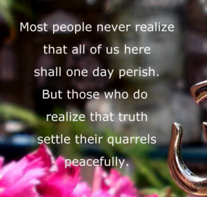 Famous Quotations of Buddha - Settle Your Quarrels Peacefully