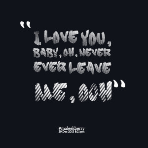 Love You Baby Quotes