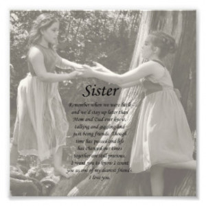 Two Little Girls Sister Thank You Photo Print