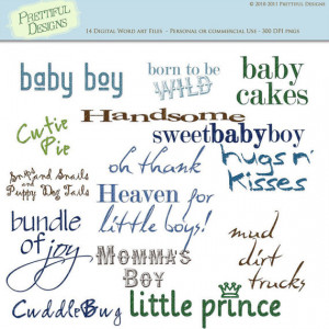 30% OFF SALE Baby Boy Sayings Digital Scrapbooking Clip Art (473)