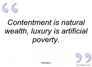contentment is natural wealth socrates