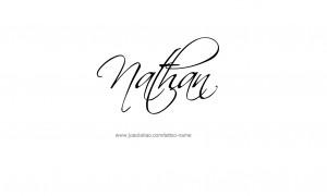 Tattoo Design Male Name Nathan