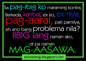 quotes about love tagalog patama sa ex