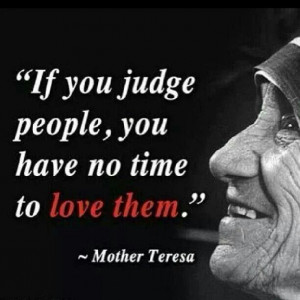 If you judge people.