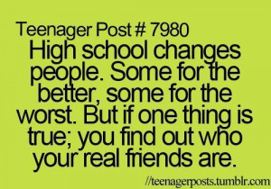 Friendship #Quotes High school quote http://ift.tt/1fJZhu8