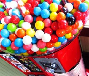 Candy bubble gum machine