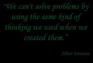 Einstein on problem solving