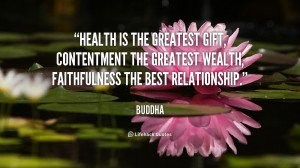 Buddha Health Is the Greatest Gift Quote