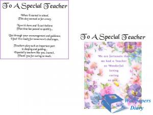 poems about teachers