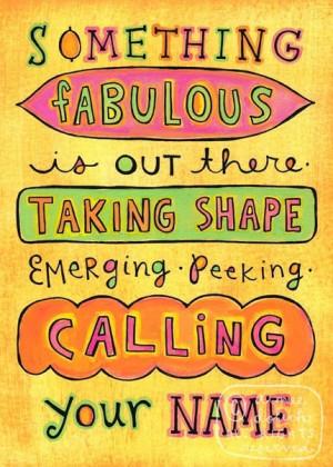 Something Fabulous Inspirational Quote