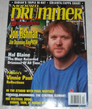 ... about 2000 MODERN DRUMMER MAGAZINE JON FISHMAN HAL BLAINE VINNIE PAUL
