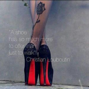 black, christian louboutin, heels christian louboutin, legs ...