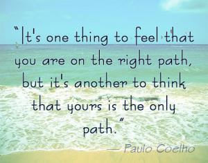 Paulo Coelho on being right