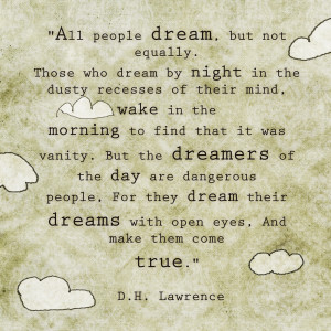 Quote: Dreams... D.H. Lawrence