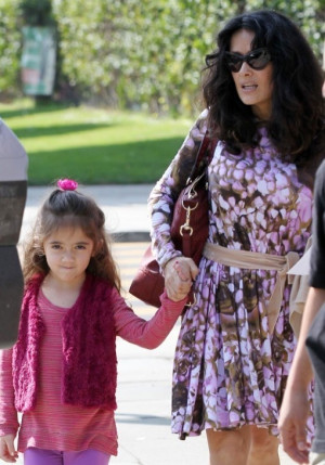 Salma Hayek was pictured taking her daughter Valentina Paloma Pinault ...